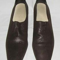 Donald J Pliner Brown Suede W/croc Leather Heel Counter Mid-Heel Shoe Pumps 8.5n Photo