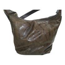Donald J. Pliner Brown Zebra Print Leather Hobo Handbag Purse Photo