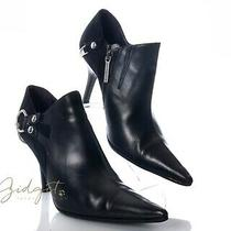 Donald J Pliner Cher Size 6 Black Leather Booties Ankle Boots Photo