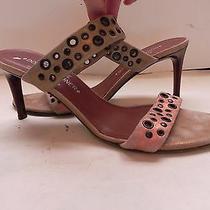 Donald J Plinercouturegold Leather Slides Sandals Heels Size 8 1/2 Mworn 1x Photo