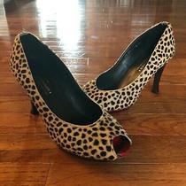 Donald J Pliner Couture Leopard Peep-Toe Pumps Size 6 Photo