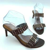 Donald J Pliner Couture Women Black Strap Sandal Shoe Size 7m Pre Owned Photo
