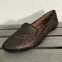 Donald J Pliner Denda Loafers Sz 7n Bronze Black Crackle Leather Slip on Shoes Photo