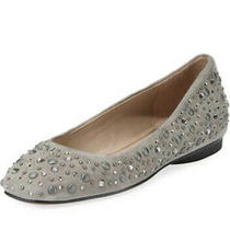 Donald J Pliner Dora Jeweled Womens Suede Carnot Gray Shoes Size 7 New Photo