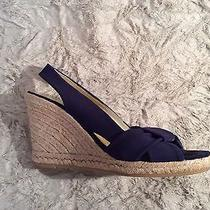 Donald J Pliner Elara-Sy Stretch Mesh Wedges Platforms Navy Sz 8b Photo