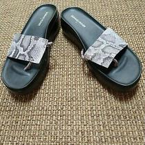Donald J Pliner Fifi New Grey Snake Platform Sandal 10 M Photo