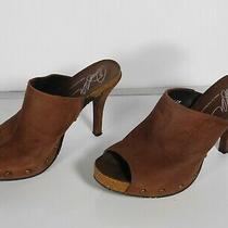 Donald J Pliner Ginet Women's Clog Mules Heel Sandals Sz 6 1/2 M Open Toes Brown Photo