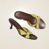 Donald J Pliner Green Brown Women's Heels Mules Size 7 M Photo