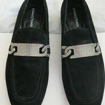 Donald J Pliner Halen 198 Designer Flats Loafer Oxfords Shoes Black Suede 7 M Photo
