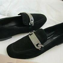 Donald J Pliner Halen 198 Flats Loafer Oxfords Women Shoes Black Suede Stones 7 Photo