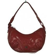Donald J Pliner Handbag Size Medium Red Solid Faux Leather Hobo Purse Casual Photo