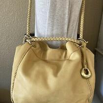 Donald J Pliner Handbag Yellow Leather Shoulder Bag Tote Hobo Crossbody Photo