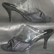 Donald J Pliner Jinny Women's Black Suede/fabric Mule Sandal Shoes Size 7 1/2 M Photo