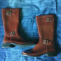 Donald J. Pliner Knee High Rubber Rain Boots W/buckles /beautiful Brick Red sz.8 Photo