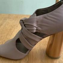 Donald J Pliner Leather Bailey Blush Napa Block Heel Sandal Size 9.5 - 4