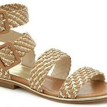Donald J Pliner Lucia 34 Women's Leather Gladiator Flat Sandals Sand Size 9.5 Photo