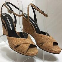 Donald J Pliner Maca Women's Cork Wedge Sandal 8.5 M Peep Toe Strappy Wedges Photo