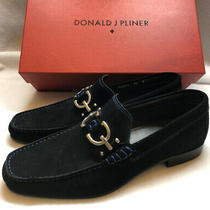 Donald J Pliner Men's Dacio2 Slip on Loafer Black Suede 12m Made in Italy Photo