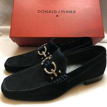 Donald J Pliner Men's Dacio2 Slip on Loafer Black Suede 9m Made in Italy Photo