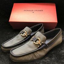 Donald J Pliner Men's Dacio2 Slip on Loafer Lead/blue King Size 10 1/2 M Italy Photo