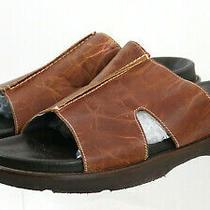 Donald J. Pliner Men's Slide Sandals Size 12 Leather Brown Photo