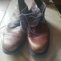 Donald J Pliner Mens Leather Shoes Sz 10.5  Brown Blue Hipster  Photo