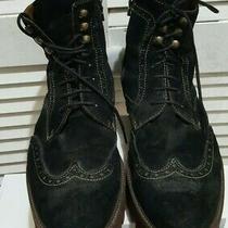 Donald J. Pliner Mens Myle Dress Boots Brushed Suede Lace-Up 10.5 M Photo