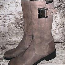 Donald J Pliner Pearl Womens Leather No Heel Boots Size 7.5 M Photo