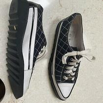 Donald J Pliner Quilted Black and White Sneaker 8 Photo