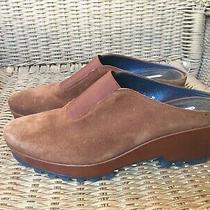 Donald J Pliner Rasha Women's Clog Mules Brown Suede Heeled Shoes Size 7 Euc Photo
