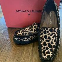 Donald J Pliner Rio 3 Womens Loafer (6m Natural/black Giraffe) Photo