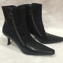 Donald J Pliner Salonan Leather Ankle Boots 5.5 Msrp 350 Read Description Photo