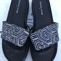 Donald J Pliner Sandals 8m  Blue With Silver Low Heels Photo