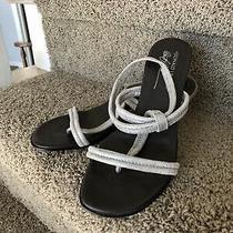 Donald J Pliner Silver Sandals 71/2m Photo