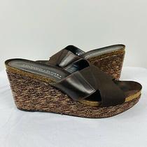 Donald J Pliner Size 10 M Bosna S4 Wedge Sandals Brown Gold Metallic  Photo