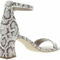 Donald J Pliner Snake Print Vanesa Leather Peep Toe  Ankle Strap Sandals Sz 7.5 Photo