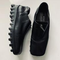 Donald J. Pliner Sport Agnes Black Leather Comfort Modern Square Toe Shoe Sz 9  Photo