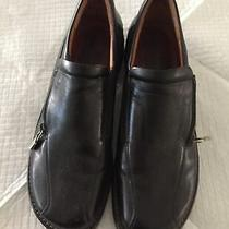 Donald J Pliner Sport Women Black Zip Loafer Shoe 8n Pre Own Excellent Condition Photo
