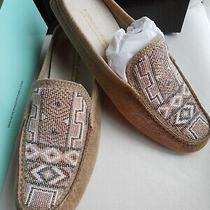Donald J Pliner Vevi Beaded Mule Loafer Brushed Metallic Leather Women's sz.9.5n Photo