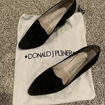 Donald J Pliner Wedge Pumps Size 8 M. Black Suede Pointy Toe W/bag Photo