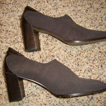 Donald J Pliner Women's Brown Leather and Fabric Classic Heels Pumps Shoes 9 N Photo