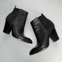 Donald J Pliner Womens Sasse Leather Ankle Boots Black Size 8.5 Photo