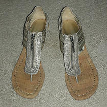 Donald J Pliner Women's Wedge Leather Thong Sandals Size 8m Photo