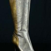 Donald J Pliner Womens Couture Boots Sz 7.5m Pewter/bronze Leather Italy 425 Photo
