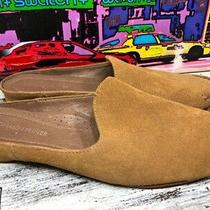 Donald J Pliner Womens Mule Flat Shoes Brown Suede Toe Stitching Slip on 7.5 M Photo