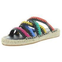 Donald J. Pliner Womens Rhonda Black Slide Sandals 9.5 Medium (Bm) Bhfo 4460 Photo