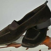 Donald J Pliner Womens Shoes Loafers Pumps Expresso Velvet Spain 9n Vtg Nos Box Photo