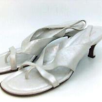 Donald J Pliner Womens Viola-60 Fabric Split Toe Special Silver Size 9.0 Pxb6 Photo