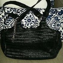 Donald J Pliner Woven Leather Handbag Large Tote. Photo