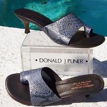 Donald Pliner 260 Couture Cobra Leather Shoe Nib Snake Toe-Ring Sandal Photo